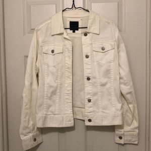 The Limited White Jean Jacket